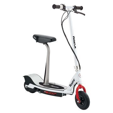 Razor E200S Electric Seated Scooter - White/Red