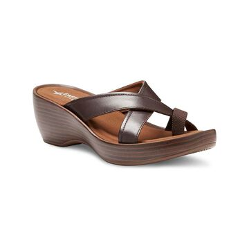 Eastland Women's Sandals BROWN - Brown Willow Leather Wedge Sandal - Women