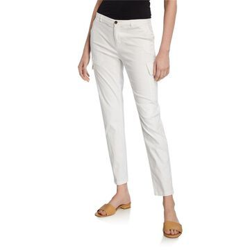 Stretch Cotton Slim Ankle Pants