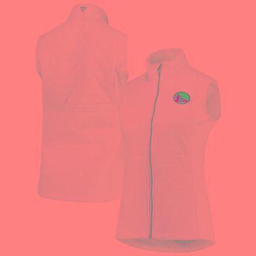 Levelwear Golden State Warriors Women's White Quilted Winter Full-Zip Vest