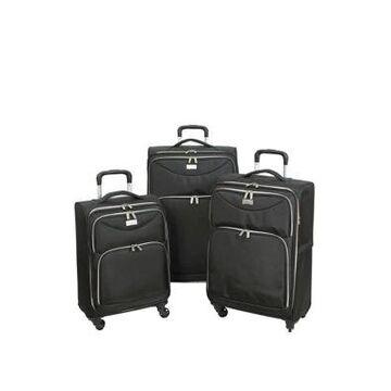 Geoffrey Beene Ultra Light-Weight Midnight 3 Piece Luggage Set -