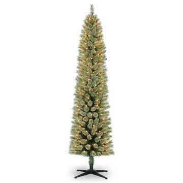 7Ft Pre-Lit Artificial Cashmere Pencil Christmas Tree, Clear Lights by Ashland   Michaels