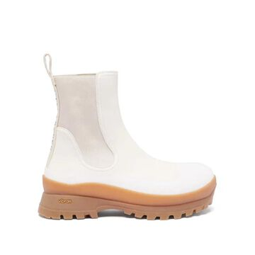 Stella Mccartney - Trace Chunky-sole Faux-leather Chelsea Boots - Womens - Cream