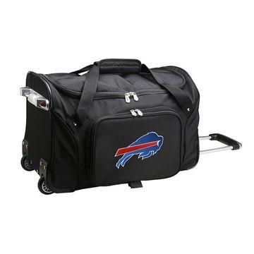 Denco Buffalo Bills 22-Inch Wheeled Duffel Bag