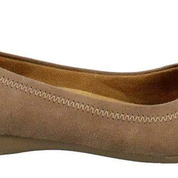 NATURAL SOUL Womens Original Mauve Closed Toe Ballet Flats