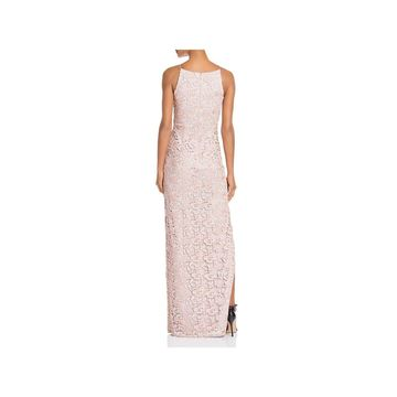 Aidan Mattox Womens Evening Dress Metallic Lace