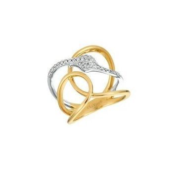14K Two-Toned Gold and Vanilla Diamond Ring