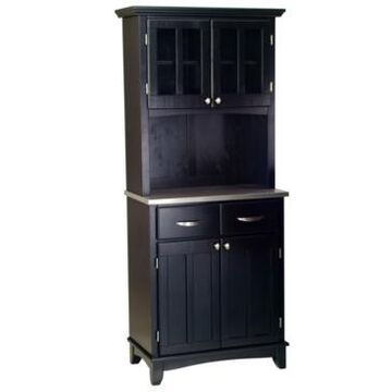 Home Styles Buffet of Buffet with Stainless Top and Hutch