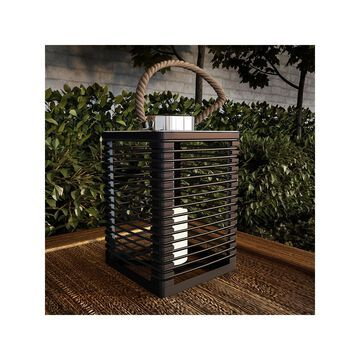 Pure Garden Solar Powered Lantern with LED Candle