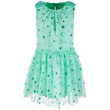 Little Girls Foil-Print Mesh Dress, Created for Macy's
