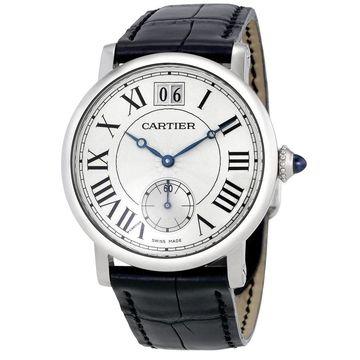 Cartier Men's W1552851 'Rotonde De Cartier' Black Leather Watch