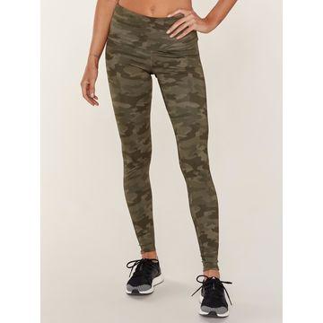 Onzie High Rise Legging - Moss Camo (Green) - XL - Also in: XS