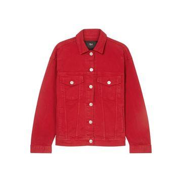 3x1 - Oversized Denim Jacket - Red