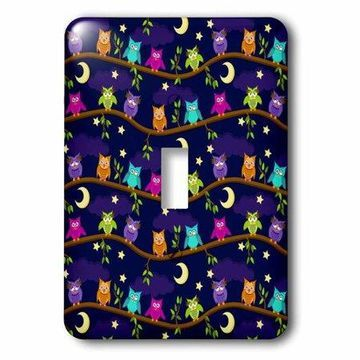 3dRose Night Owls, Single Toggle Switch