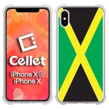 Cellet TPU / PC Proguard Case with Jamaica Flag for Apple iPhone Xs & X