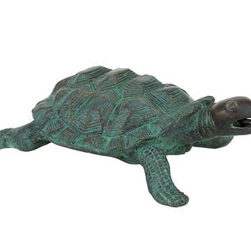 Design Toscano Traipsing Turtle Bronze Garden Statue