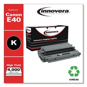 Innovera Remanufactured Black High-Yield Toner Cartridge, Replacement for Canon E40 (1491A002AA), 4,000 Page-Yield -IVRE40