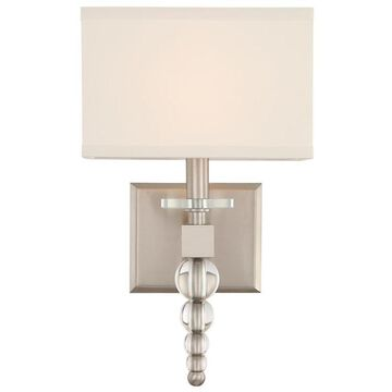 Crystorama Clover 9.5-in W 1-Light Brushed Nickel Modern/Contemporary Wall Sconce   CLO-8892-BN
