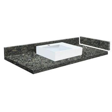 Transolid 48-in Tempest Quartz Single Sink Bathroom Vanity Top in Gray | VT48.5X22-1RV-4K-1