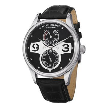 Stuhrling Original Men's Khepri Automatic Leather Water-resistant Strap Watch