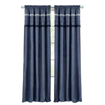 Achim Blue Jean Rod Pocket Window Curtain