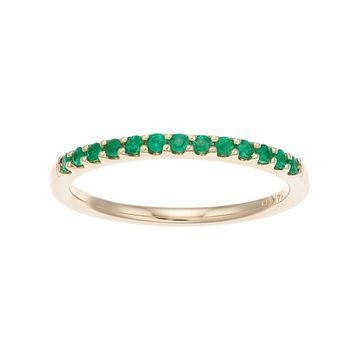 Boston Bay Diamonds 14k Gold Emerald Stack Ring