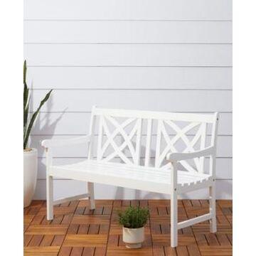 Vifah Bradley Outdoor Patio Wood Garden Bench