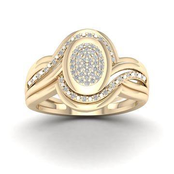 De Couer 1/5ct TDW Diamond Cluster Ring - Yellow
