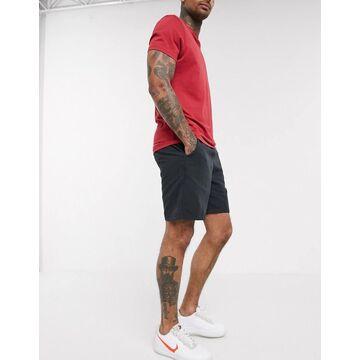 Abercrombie & Fitch drapey pull on shorts in dark gray