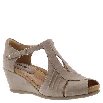 Earth Womens Primrose Leather Peep Toe Casual Platform Sandals