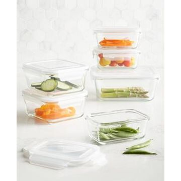 Martha Stewart Collection 12-Pc. Glass Food Storage Container Set, Created for Macy's