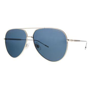 Montblanc MB0045S-004 Silver Aviator Sunglasses - 61-13-145