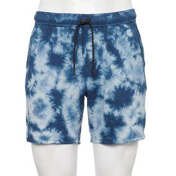 Men's Urban Pipeline Tie-Dye French Terry Shorts, Size: Medium, Blue