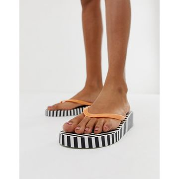 Vero Moda stripe wedge flipflops