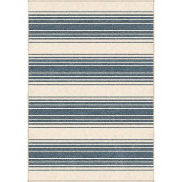 Orian Rugs Farmhouse Indoor/Outdoor Simple Stripe Light Blue Rug - 7'9