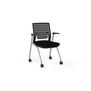 Mayline Thesis Flex Back Nesting Chair, Arms, (Qty. 2)