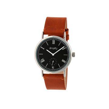 Simplify Mens Brown Strap Watch-Sim5106