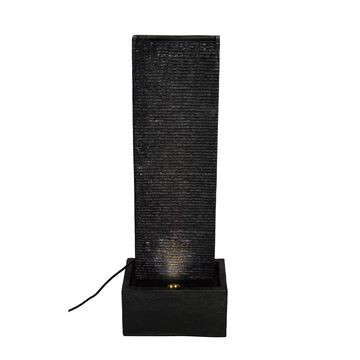 Black Water Wall LED Fountain by Ashland