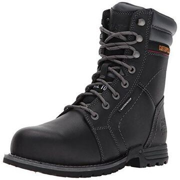 Caterpillar Women's Echo Waterproof Steel Toe Industrial and Construction Shoe, Black, 11 M US
