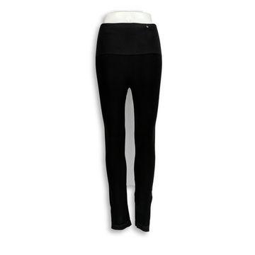Spanx Leggings Sz XL Seamless Side Zip Pull On Bdy Shaper Black A297851