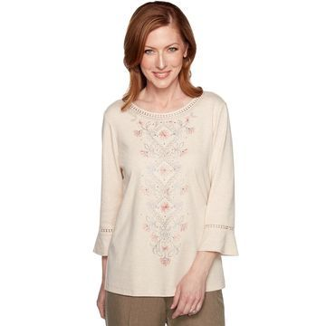 Women's Alfred Dunner Medallion & Floral Knit Top