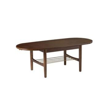 Southern Enterprises Marietta Midcentury Modern Cocktail Table with Drop Leaves