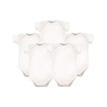 Hudson Baby Infant Bodysuits White - White Bodysuit Set - Newborn & Infant