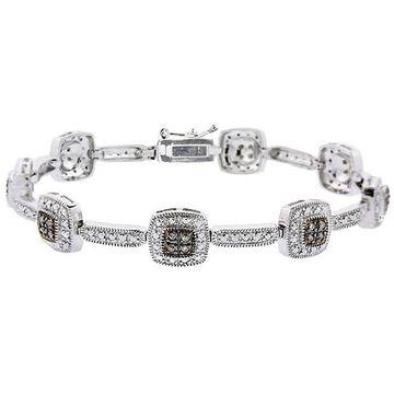 DB Designs Sterling Silver 2/5ct Diamond Link Bracelet