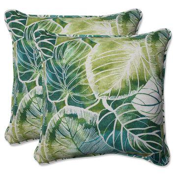 Pillow Perfect Outdoor Throw Pillow Set - Green