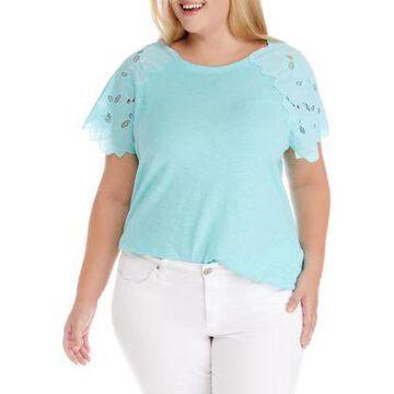 Rafaella Women's Plus Size Short Sleeve Novelty Top - -