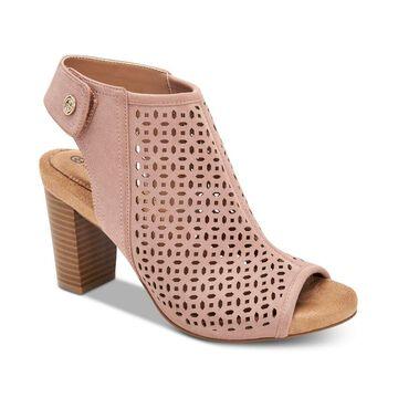 Giani Bernini Womens Joiseyy Peep Toe Ankle Wrap Classic Pumps