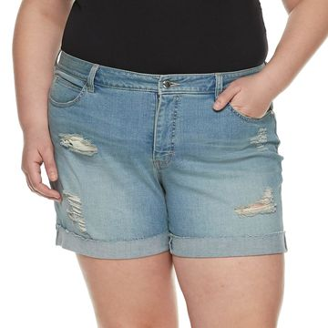 Plus Size Jennifer Lopez Rocking Cuffed Jean Shorts