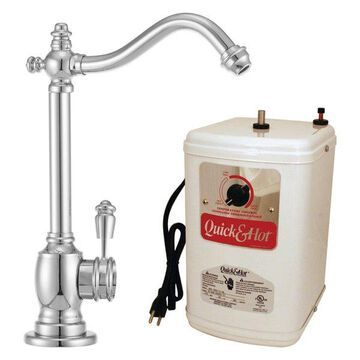 Victorian 1-Handle Water Faucet w/ Instant Hot Tank In Polished Chrome