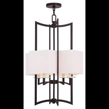 Livex Lighting 50707 Woodland Park 4 Light 1 Tier Mini Chandelier Olde Bronze Indoor Lighting Chandeliers